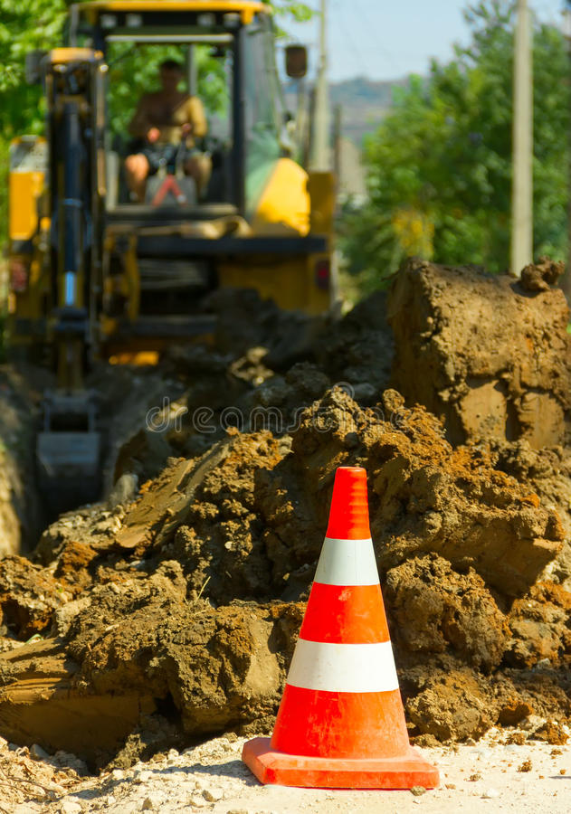 Travaux d'excavation image stock