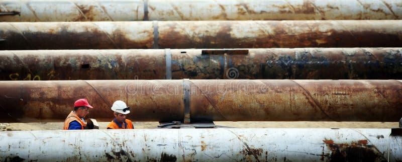 Travaux de pipe de construction photographie stock