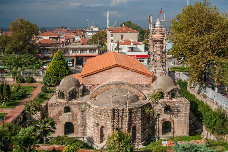 Travaux de restauration de mosquée d'Iznik Orhangazi photo libre de droits