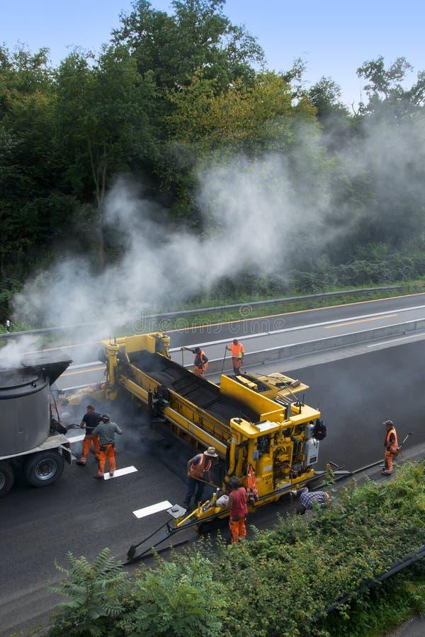Travaux routiers de chantier de construction photographie stock libre de droits