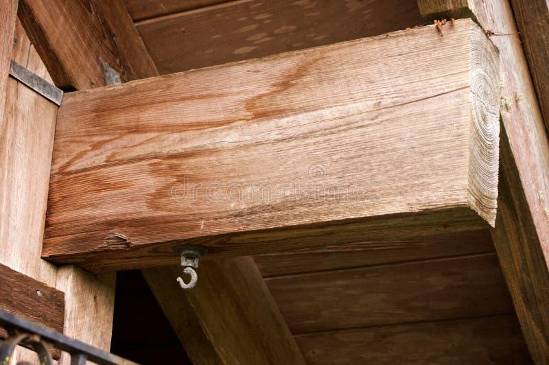 Trave di legno con il gancio immagine stock libera da diritti