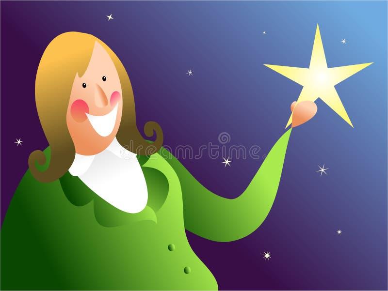 Trave uma estrela de queda ilustração do vetor
