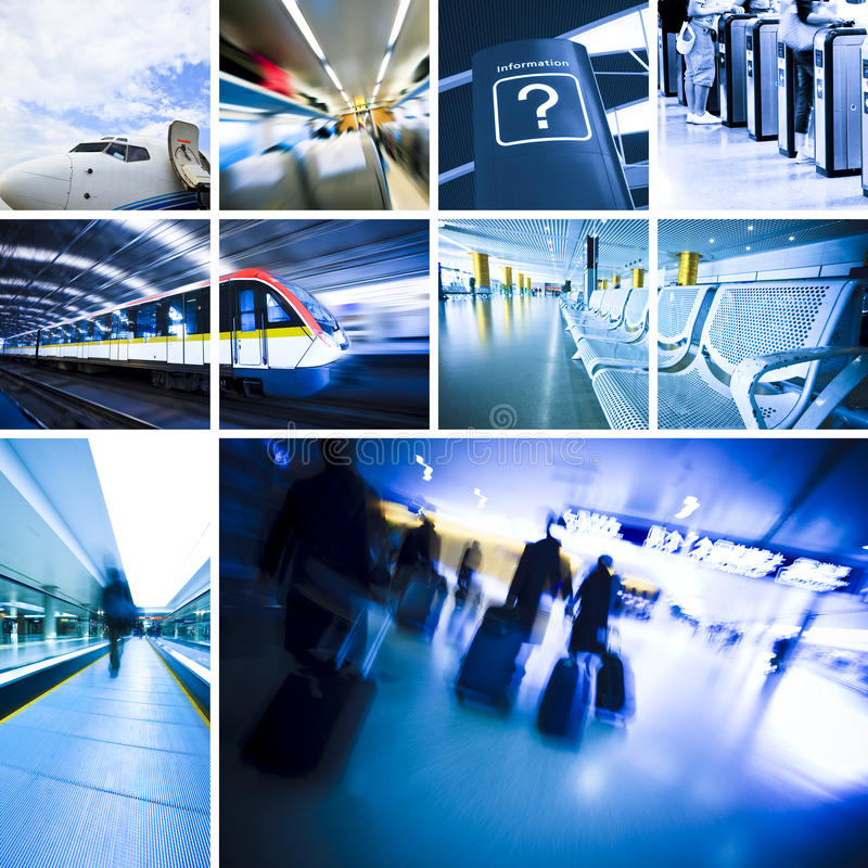 Travel. Business travel background about train and airplane,the concept about passenger traveling royalty free stock photo