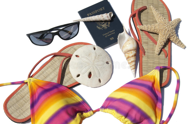 Download Travel accessories stock photo. Image of flops, document - 13895052