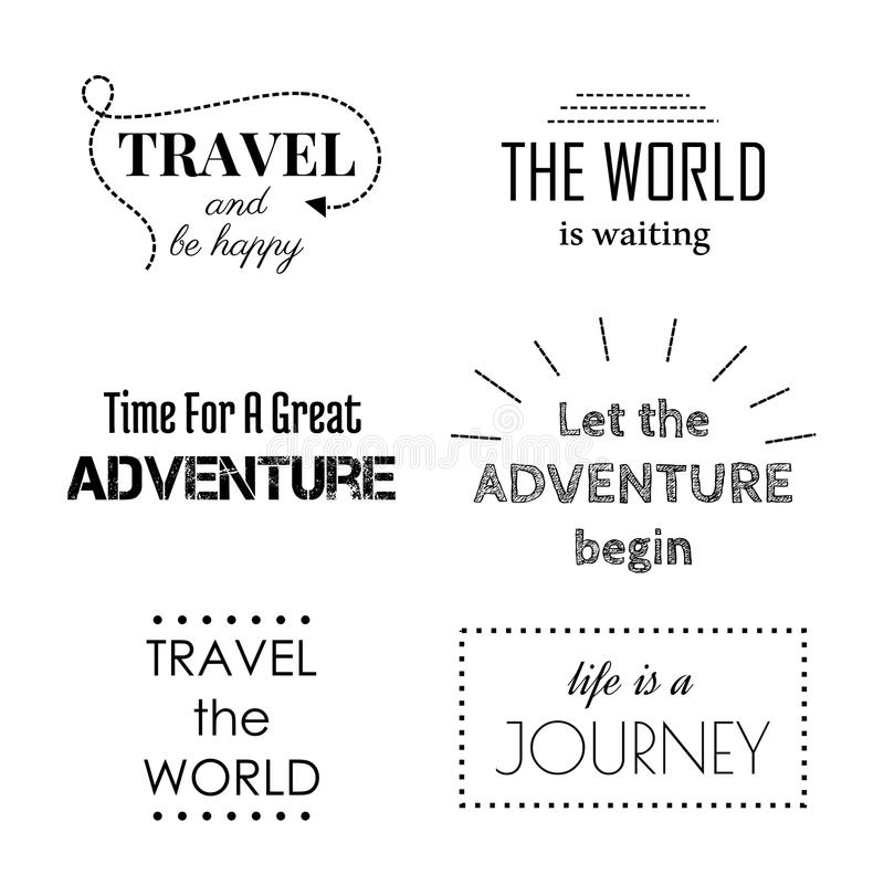 Travel and adventure quotes. Travel and adventure motivational quotes for design. Vector illustration vector illustration