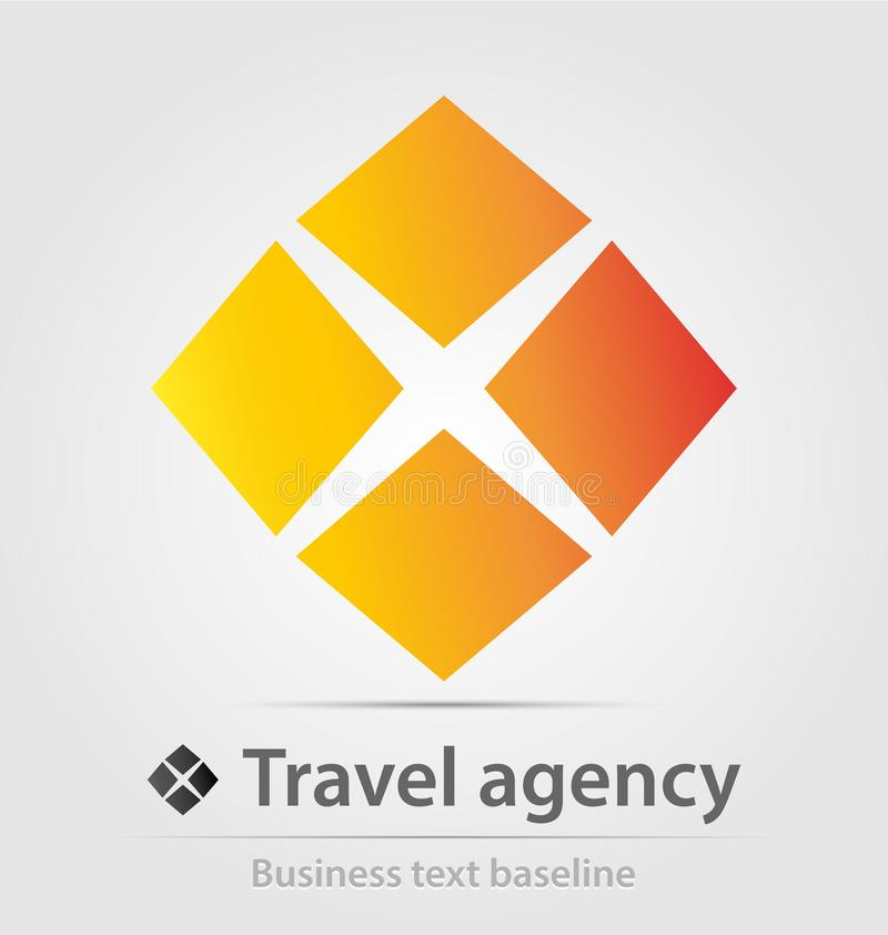 Travel agency anf international transport business icon. Travel agency and international transport business icon for creative design work royalty free illustration