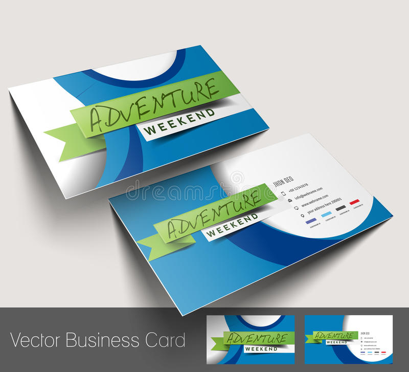 Travel Agent Business Card stock vector. Image of concept - 41727603
