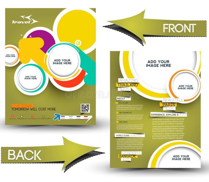 travel agent flyer stock vector