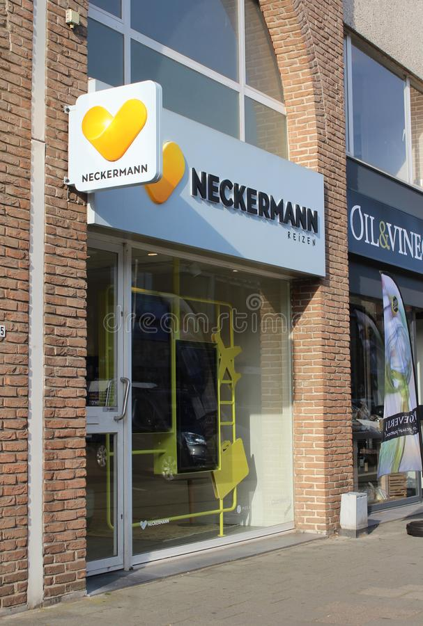 Travel Agents Shop, Dendermonde, Belgia fotografia royalty free