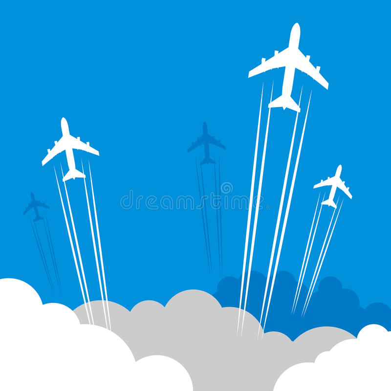 Download Travel Or Air Cargo Abstract Stock Vector - Illustration of airliner, pacific: 39513648