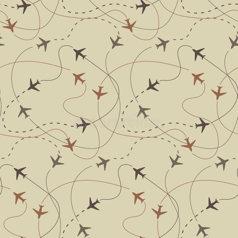 Travel air plane seamless pattern, vector vector illustration