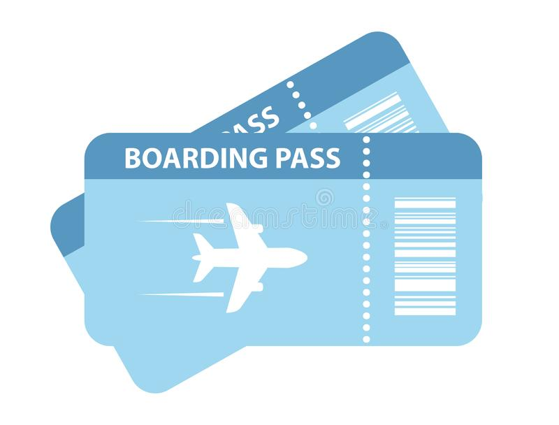 Travel air ticket vector icon royalty free illustration