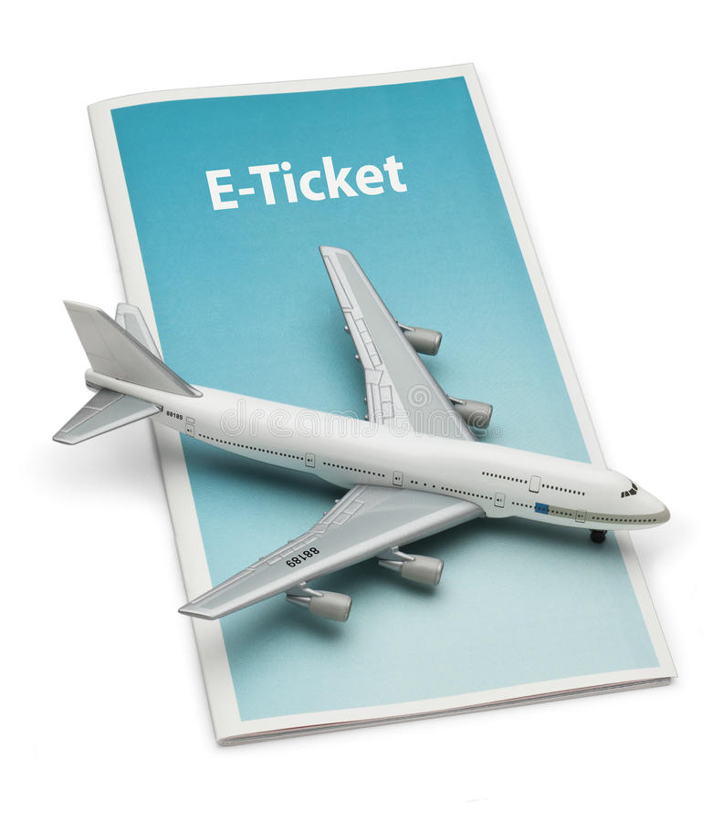 Travel Airplane E Ticket stock photos
