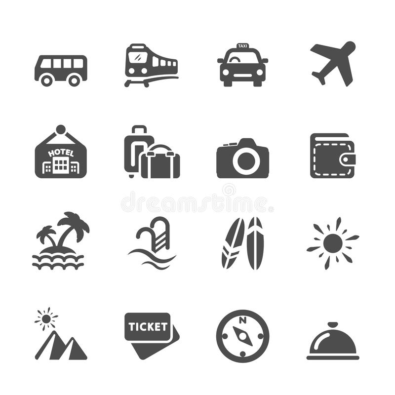 Free Travel And Vacation Icon Set 5, Vector Eps10 Stock Image - 52327071
