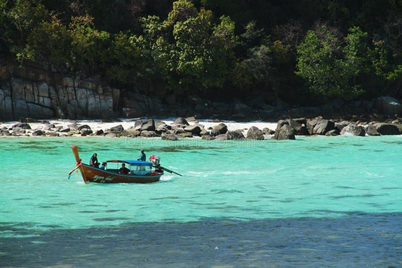 Travel around Lipe Island by boat stock photo