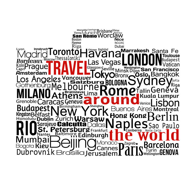 Travel around the world concept royalty free illustration
