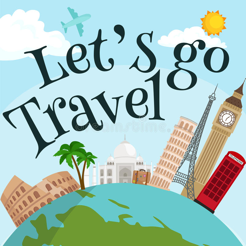 Download Travel Around The World Poster Tourism And Vacation Earth Journey Global