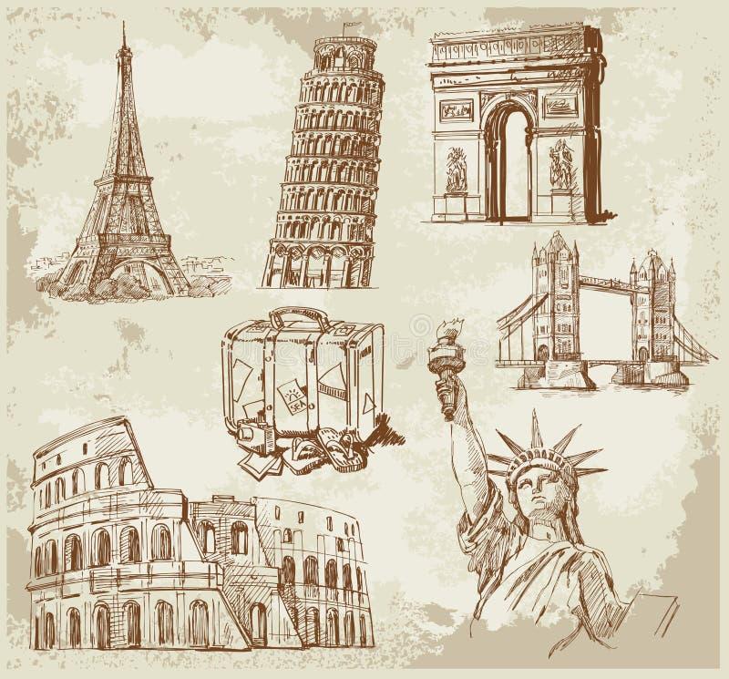 Download Travel background stock vector. Illustration of built - 23934663