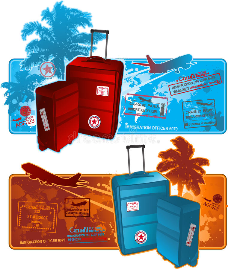 Download Travel background banner stock vector. Illustration of airline - 14486393