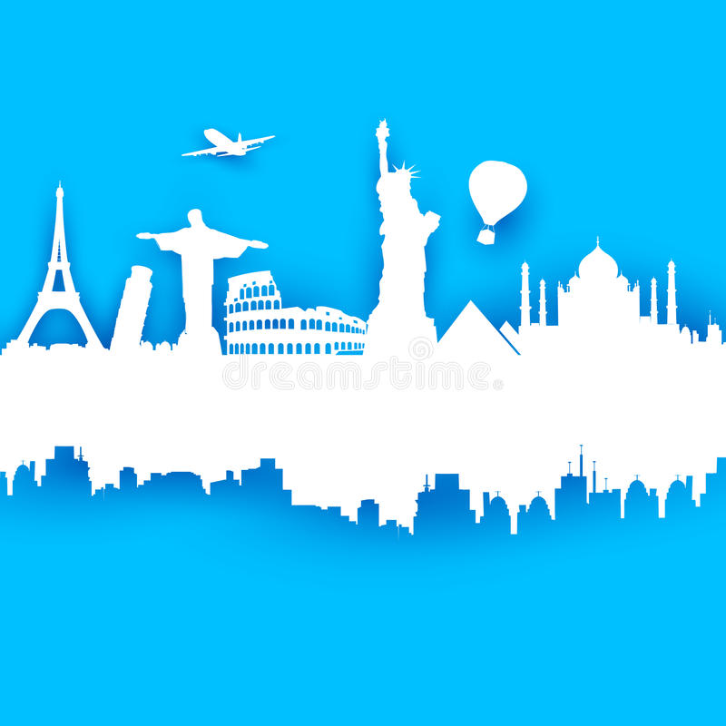 Travel Background vector illustration