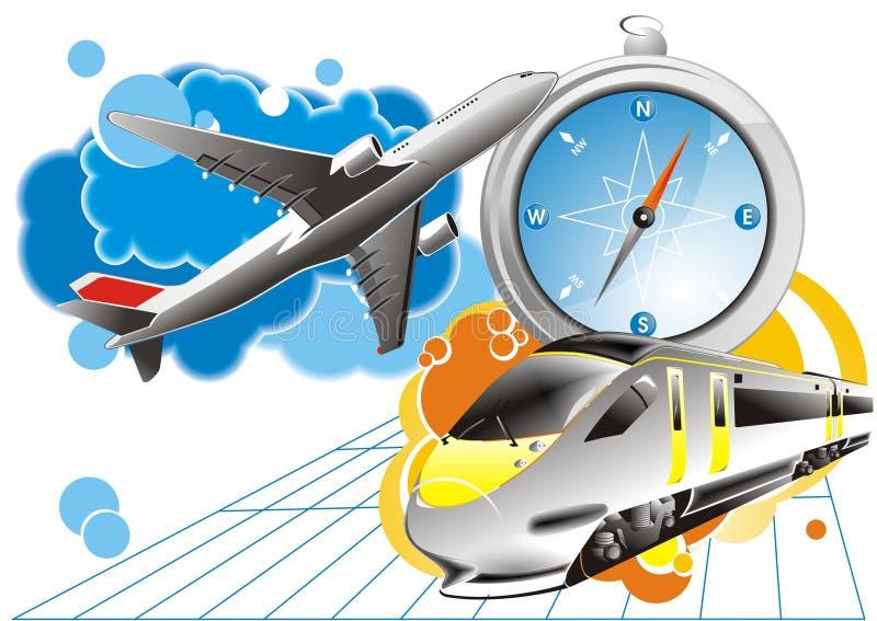 Travel background - vector vector illustration