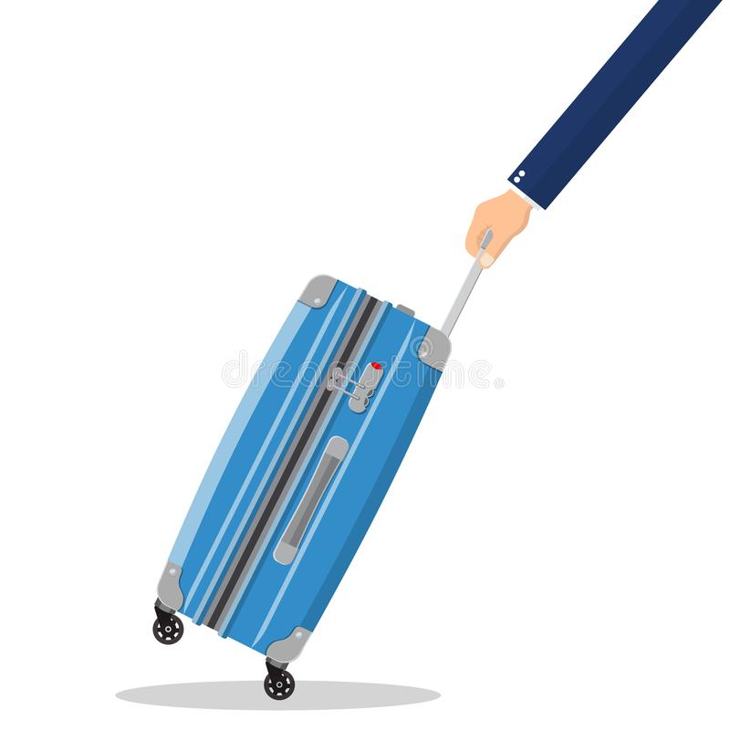 Travel bag in hand. royalty free illustration