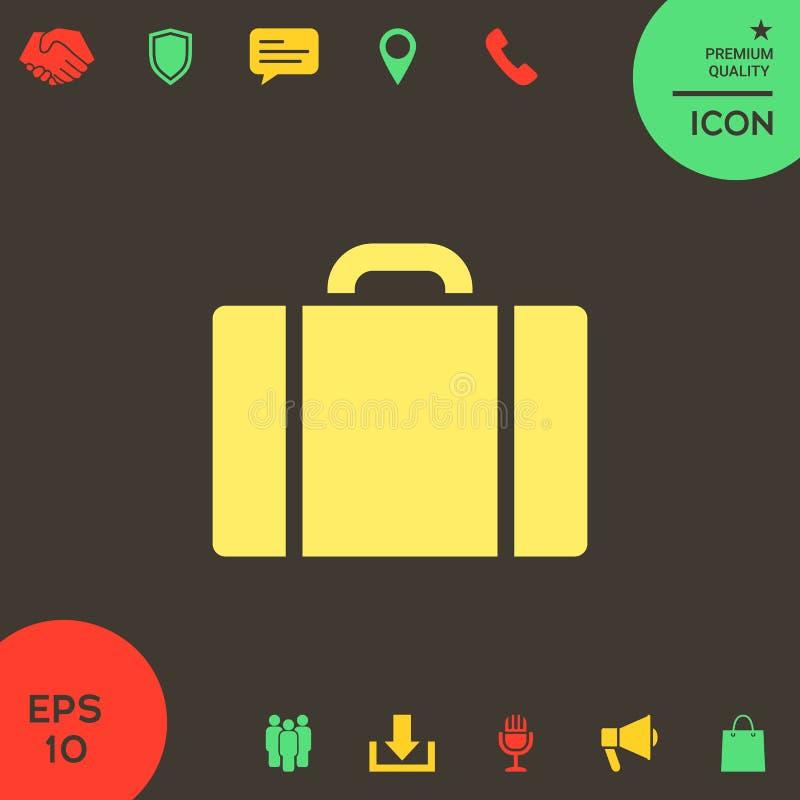 Travel bag icon royalty free illustration