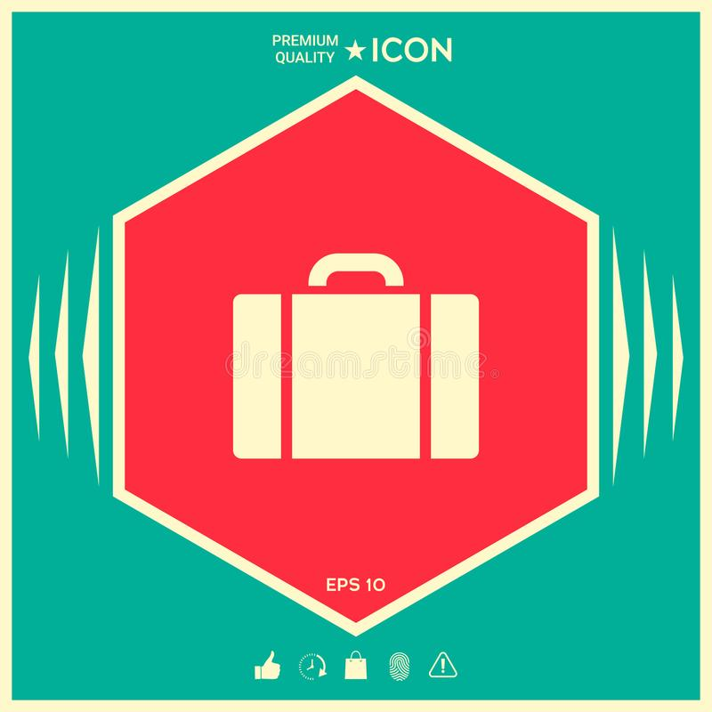 Travel bag icon stock illustration
