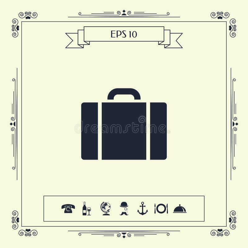 Travel bag icon royalty free illustration