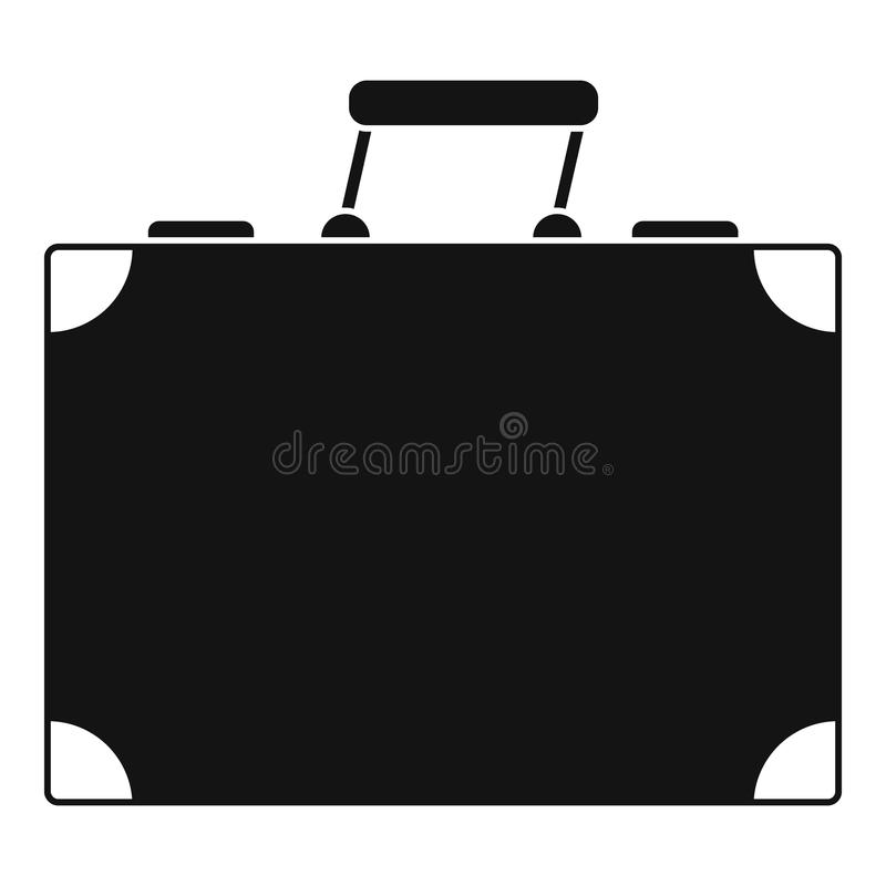 Travel bag icon, simple style vector illustration