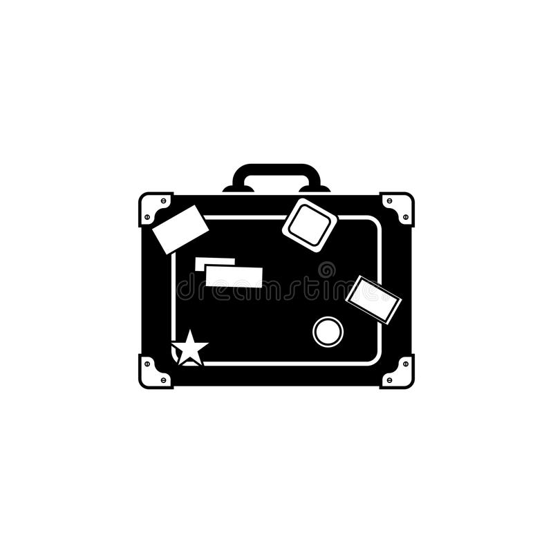 Travel bag icon. Suitcase stock illustration