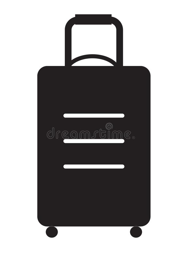 Travel bag icon on white background. vector illustration