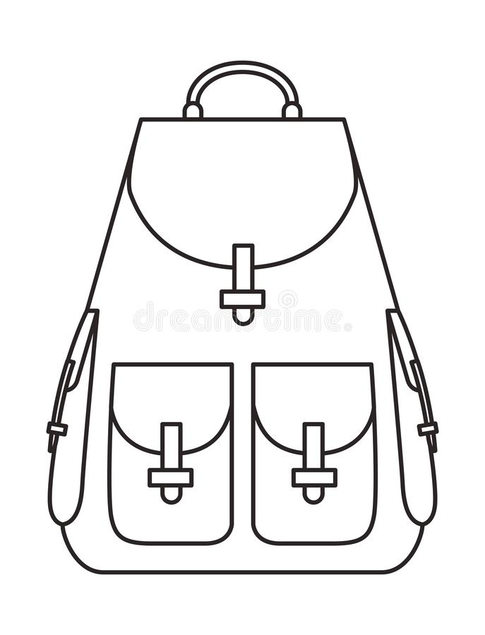 Travel bag isolated icon. Vector illustration design stock illustration