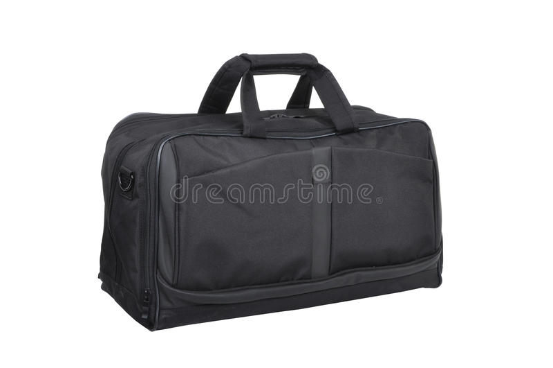 Travel bag (isolated on white) royalty free stock photo