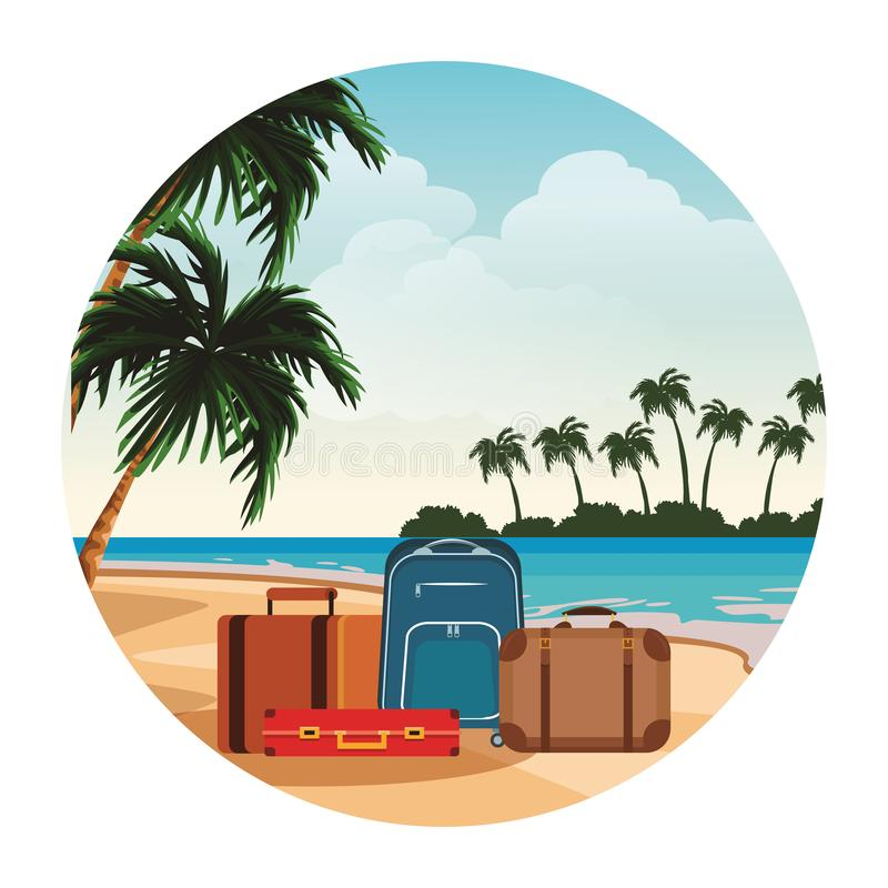 Travel baggage icon royalty free illustration