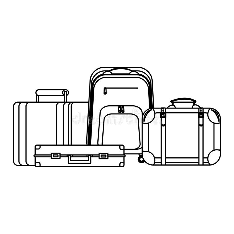 Travel baggage icon stock illustration