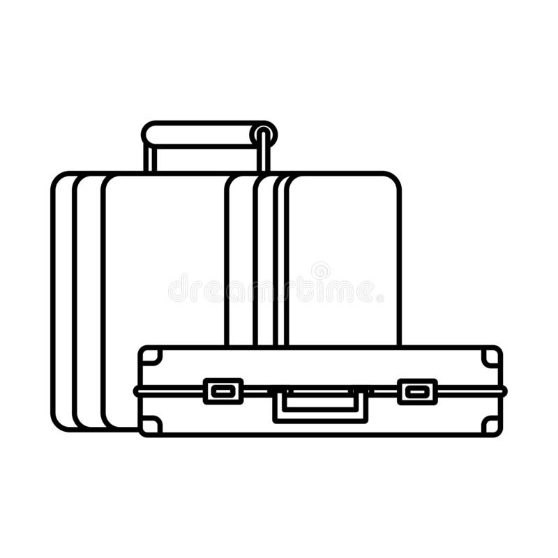 Travel baggage icon vector illustration