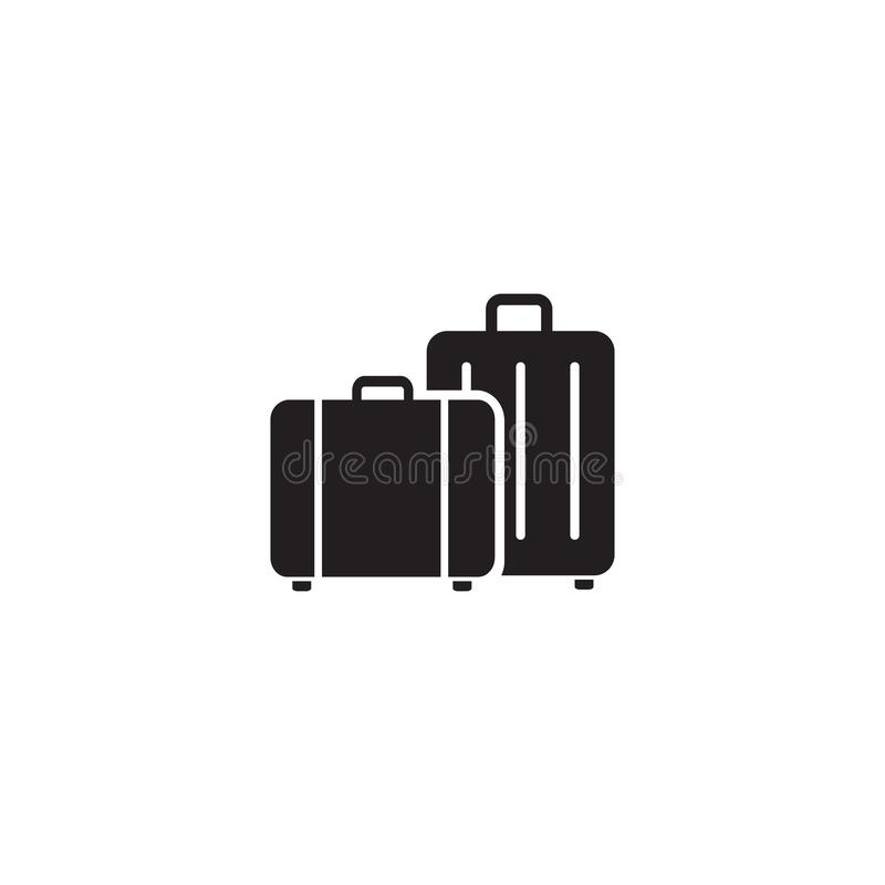 Travel, baggage, tourism, luggage, airport icon vector illustration