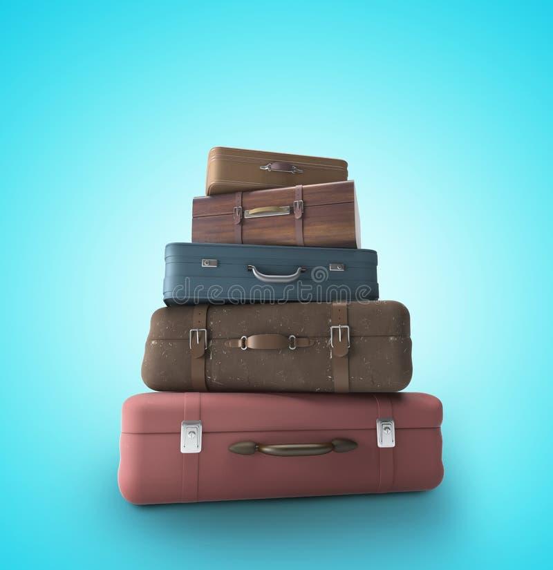 Travel bags vector illustration