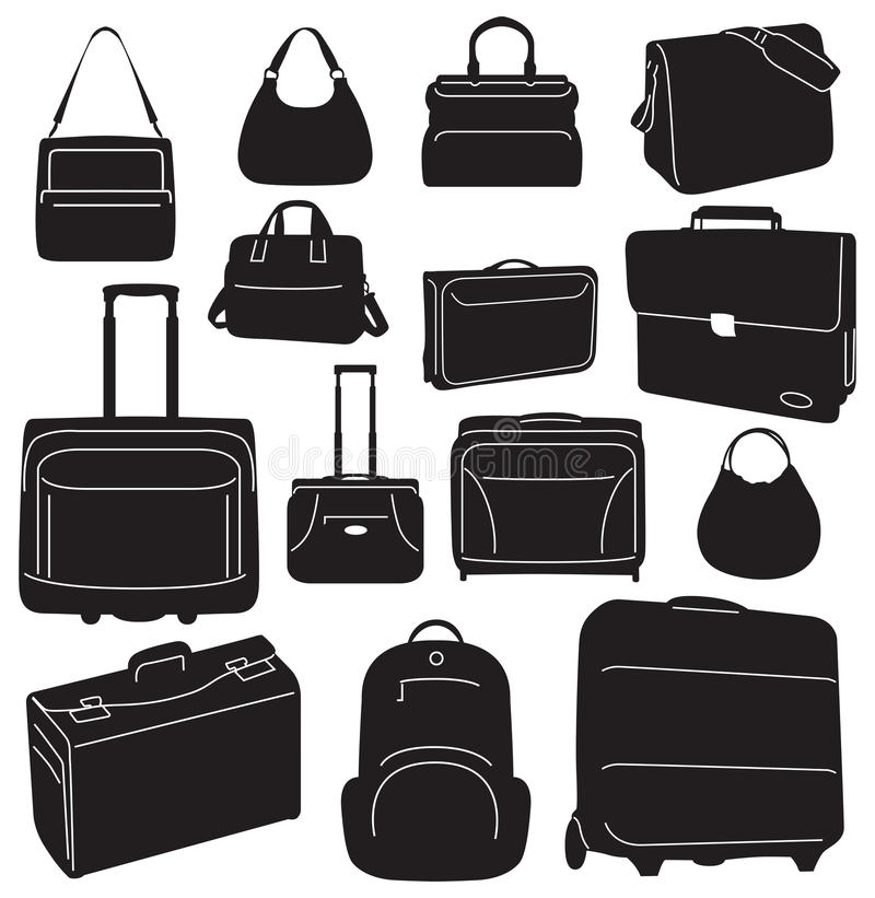 Download Travel Bags And Suitcases Collection Stock Vector - Illustration of painting, element: 27767127