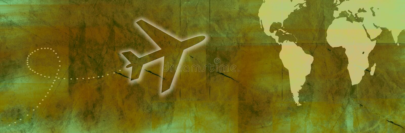Travel Banner royalty free illustration