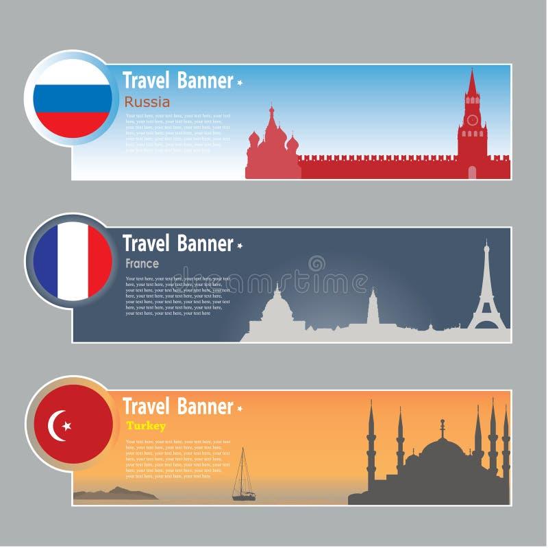 Travel banners stock illustration