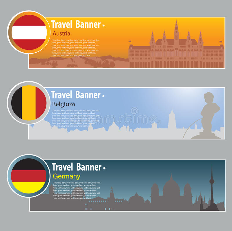 Download Travel banners stock vector. Illustration of symbol, outdoors - 26952357
