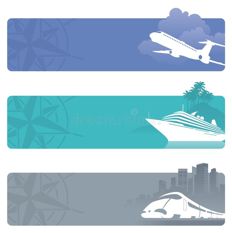 Travel banners vector illustration