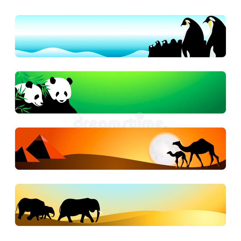 Download Travel banners | Set 1 stock vector. Image of design - 10892452