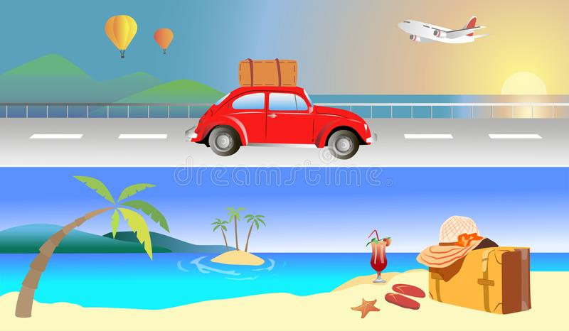 Travel beach sea royalty free stock photo