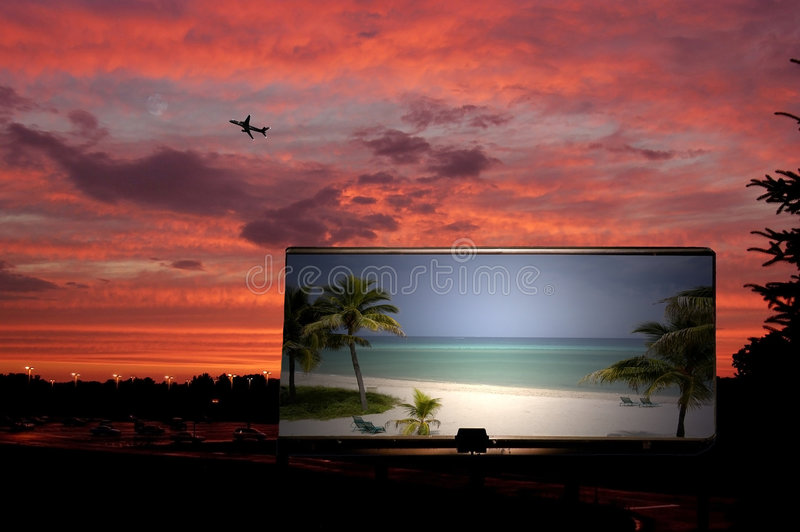 Travel billboard royalty free stock images
