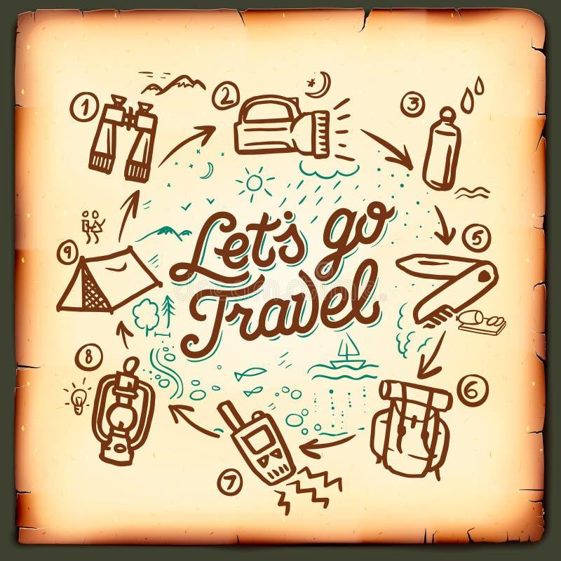 Travel blog, adventure blogging online royalty free illustration