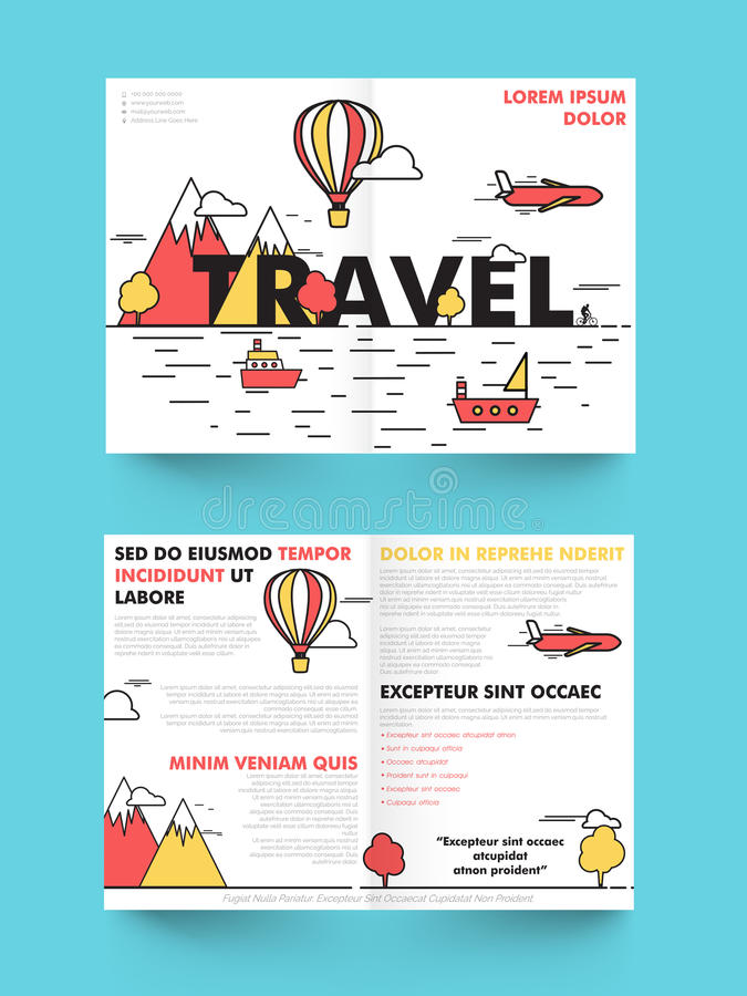 Tourist Brochure Template Free Travel Brochure Template Travel