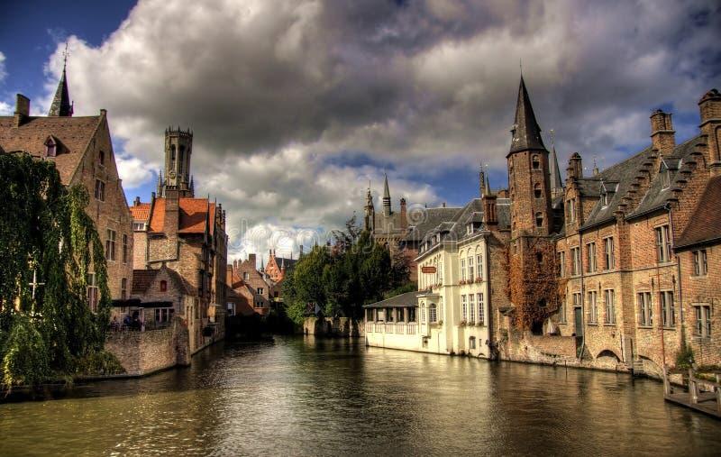 Travel in Brugge. Brugge city in Belgium - beautiful tourism destination in Europe stock photo